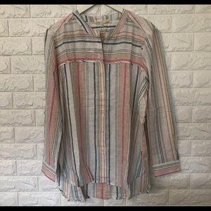 NWT C&C California XL multi color striped tunic